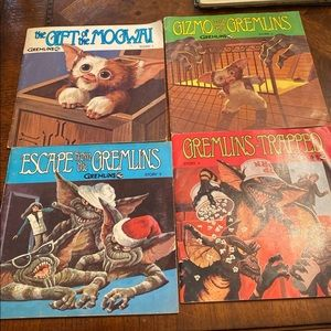 Gremlins record story books 45 LP